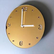 Round Gold Mirror & White Clock (white Back) white Hands & Silent Sweep Movement
