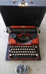 1930s royal model P duo tone orange , excellent working condition and nice case