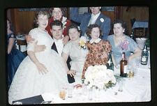 1959 Kodachrome 35mm photo slide ship Wedding Party Canada Dry cigarette