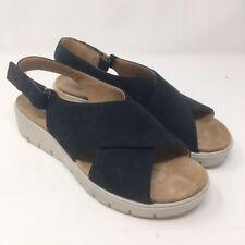 Clarks Unstructured 10 Un Karely Hail Sandals Black Chunky Ortholite Platform