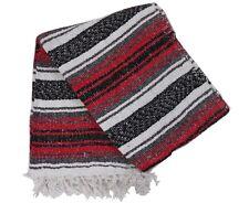 "Mexican Blanket Falsa Yoga Picnic Throw 72"" X 50""-Traditional Colors"