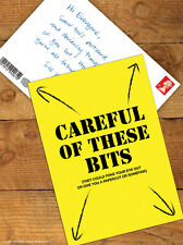 Brainbox Candy 'Careful Of These Bits' Postcard Funny Comedy Humour Novelty Joke