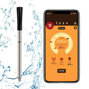Wireless BBQ Thermometer Bluetooth Kitchen Barbecue Food Oven Temperature