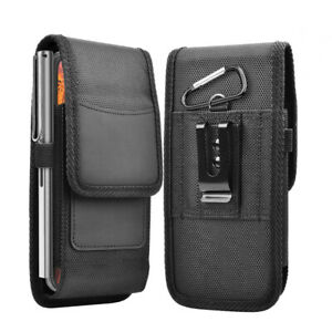 Cell Phone Holster Case Nylon Belt Clip Carrying Pouch Card Holder For iPhone 13