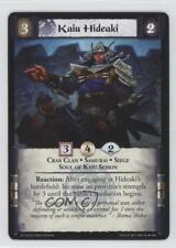 2012 Legend of the Five Rings CCG - Emperor Edition #65 Kaiu Hideaki Card 1i3
