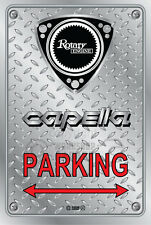 Metal Parking Sign  Rotary Mazda Style CAPELLA#07 - Checkerplate Look