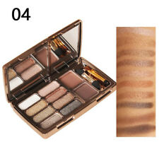 8 Eyeshadow + Eyebrow Palette Set Diamond Waterproof Beauty Make Up UK no.4