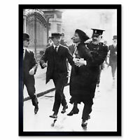 Emmeline Pankhurst Suffragette Arrested 1914 Photo Wall Art Print Framed 12x16