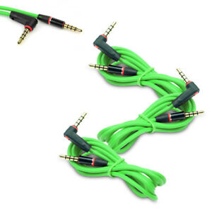 3X 4FT 3.5MM AUX L M/M AUDIO CABLE CORD GREEN FOR LG OPTIMUS G2 HTC ONE MOTO X G