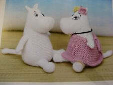 Crochet pattern Moomin and Snorkmaiden soft toys approx 20 cm high
