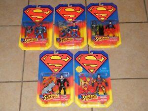 5 SUPERMAN Man Of Steel MOC Sealed Figure Lot KENNER 1995 VINTAGE SUPERBOY ++
