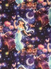 Disney Aladdin Princess Jasmine Poly Cotton Blend Fabric Fat Quarter FQ 18 X 21