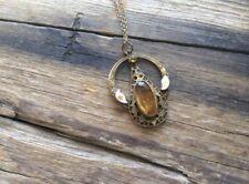 Antique Necklace amber glass Jewel 1920s Art Deco Art Nouveau