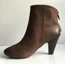 Ash women's brown leather high heel ankle boots size 8 M 38
