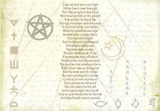 Framed Print - Pagan Poem (Picture Wicca Folklore Paganism Magic Spell Druid)