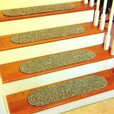 Rhody Rug SA68A008X028-13 Sandi Tweed Braided Stair Tread Bayleaf - Set Of 13