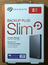 SEAGATE BACKUP PLUS SLIM 2TB EXTERNAL USB 3 PORTABLE HARD DRV SILVER STDR20