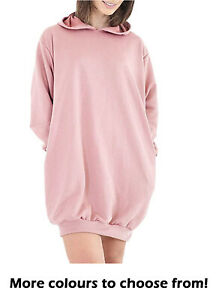 Women's Oversized Baggy Long Sleeve Pull Over Pockets Hoodies Hooded Tunic Sweat
