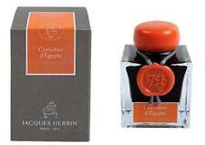 J Herbin 1798 Fountain Pen Ink - Cornaline d'Egypte , Orange & Silver, NEW