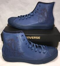 Converse Mens Size 7.5 New York Limited Midnight Blue CTAS Leather Shoes $100