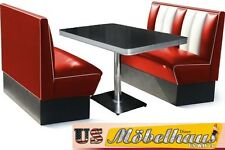 HW-120 Set American Dinerbank Sitzbank Diner Bänke Möbel 50´s Retro USA Style