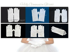 Holy Communion Gloves Girls Silk NEW Pageant White Ivory Wedding Flower First