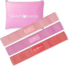 Peach Bands Hip Band Set - Fabric Resistance Bands - Exercise Bands for Leg and