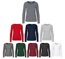 Neutre Manches Longues Femmes T-Shirt à Fairtrade Coton Bio