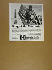 1970 Marco Polo Sheep & Seattle Hunter photo Hornady Bullets vintage print Ad