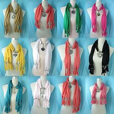 *US Seller*lot of 10 wholesale pendant necklace scarf charm jewelry necklace