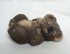 Vtg Koala Figurine Sandra Brue Sandicast Sculpture Handpainted