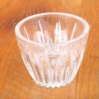 Clear Glass Candle Votive Holder Linear Pattern