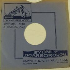 "78 rpm 10"" inch card gramophone record sleeve SYDNEY SCARBOROUGH HULL"