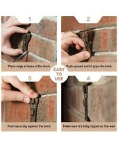 12 BRICK Clips No Holes To Drill  Holds Up To 25lbs. Great For Outdoor Decor