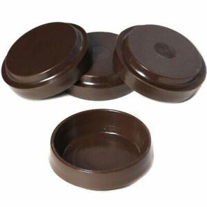 4 x BROWN CHAIR/SOFA CASTOR CUPS Furniture/Carpet/Floor Protectors Caster Feet
