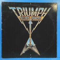TRIUMPH ALLIED FORCES VINYL LP 1981 ORIGINAL PRESS GREAT CONDITION! VG+/VG!!