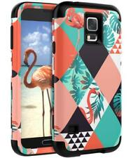 Samsung Galaxy S5 Case - 3-Layer Hybrid Plastic Silicone Heavy Duty Shockproof