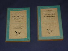 MAN AND THE VERTEBRATES 50s Vintage Pelican Book Vol 1 & 2 ~ 1953 Edition