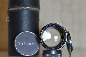 FOR CANON 135mm f2.8 M42 SOLIGOR LENS + EF/EOS adapter ~ BOKEH MONSTER ~ RARE!