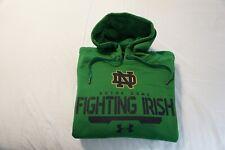 NOTRE DAME FIGHTING IRISH MENS HOODIE SWEATSHIRT MEDIUM UNDER ARMOUR GREEN