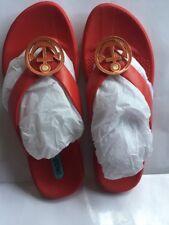 NWOB OKABASHI OKA-B Nautical Sterling sandals Red Orange Flat SIzE 8 ~ EU 38