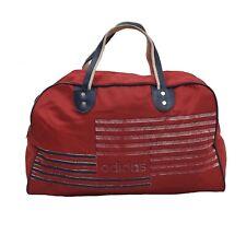 VINTAGE Adidas Tasche Bag Rot Red Gym Reisen Retro '80s Nylon Trefoil Sport