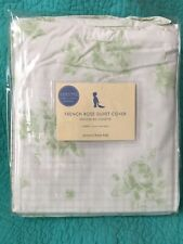 "Vintage Pottery Barn Kids Cotton ""French Rose� Green&Floral Toddler Duvet Cover"
