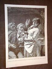 Esposizione d'arte di Brera del 1886 La moderna Susanna Quadro di Arturo Moradei