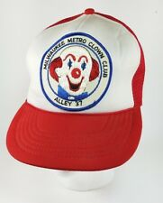 Vintage Milwaukee Metro Clown Club Alley 37 Patch Trucker Hat RARE Scary Cute
