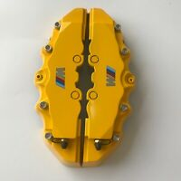 "Engineering Plastic M Performance Yellow Brake Caliper Covers 9"" Pair For bmw 3"
