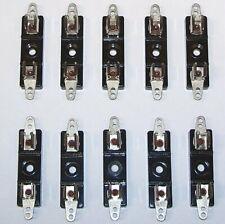 Nos Genuine 10 Pcs Lot Littlefuse Fuse Holder Vintage 3ag Solder Radio Chassis