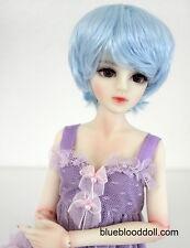 "1/4 1/3 bjd SD 7-8"" doll head baby blue short wig Luts Iplehouse dollfie MSD"
