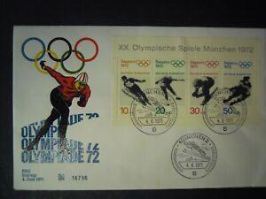 GERMANY WINTER OLYMPICS SAPPORO JAPAN MINIATURE SHEET FDC 4/6/1971