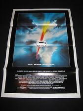 SUPERMAN THE MOVIE 1978 * CHRIS REEVE * MINT TRI-FOLDED 1SHT * RARE 1ST PRINTING